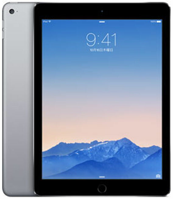 【中古】【安心保証】 au iPadAir2_6[4G128GB] グレイ:ゲオモバイル