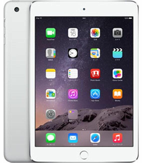 【中古】【安心保証】 au iPadmini3[WiFi+4G 64] シルバー:ゲオモバイル