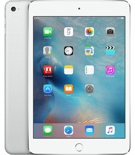 【中古】【安心保証】 docomo iPadmini4[セルラー16G] シルバー:ゲオモバイル