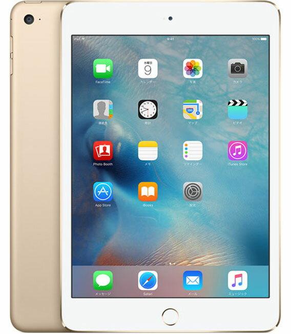 【中古】【安心保証】 docomo iPadmini4[セルラー64G] ゴールド:ゲオモバイル