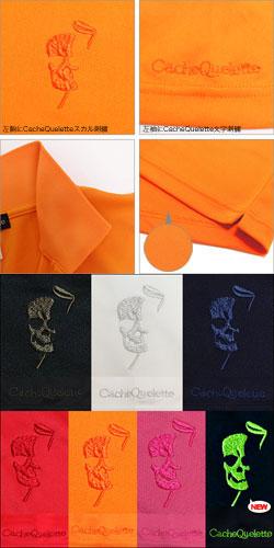 ポロシャツ半袖メンズスカルゴルフウェアGolf(吸水速乾UVカットドライクールビズドクロ)【CacheQueletteカシュクレット】プレゼントにも人気【あす楽】【送料無料】【ギフト】
