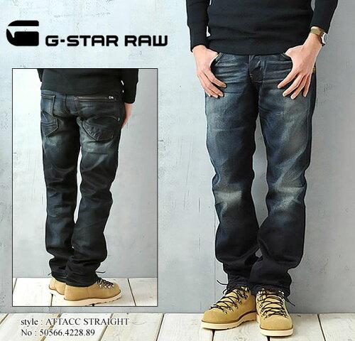 """G-STAR RAW ジースター ロウ ストレートデニム""""ATTACC STRAGHT 50566.4228.89 ジッパーバックポケ..."""