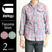 【10%OFF/送料無料】G-STAR RAW ジースターロウ Tacoma Shirt L/S チェックシャツ メンズ D02406.8221【コンビニ受取対応商品】
