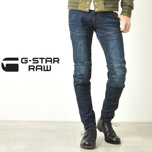 """G-STAR RAW ジースター ロウ エルウッド3D立体裁断スーパースリムデニムパンツ""""5620 3..."""