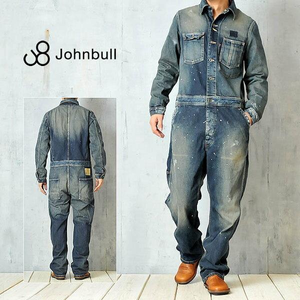 裾上げ無料 ジョンブル Johnbull エンジニア オールインワン(ユーズド加工) デニム つなぎ 日本製 11441