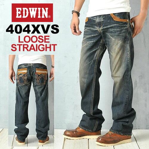 EDWIN エドウィン 404XVSシリーズ ルーズストレートデニム EDWIN 464XVS-126【コンビ...