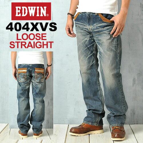 "EDWIN エドウィン 404XVSシリーズ""ルーズストレートデニム""EDWIN 464XVS-156【コンビ..."
