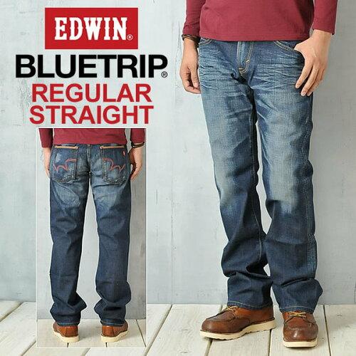 SALEセールEDWIN エドウィン BLUE TRIP 503 レッドステッチ レギュラーストレ...