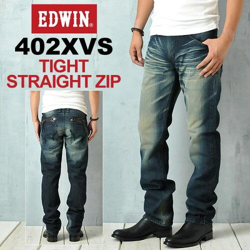 SALEセールEDWIN エドウィン 402XVSタイトストレートZIPデニムパンツ EDWIN 45...