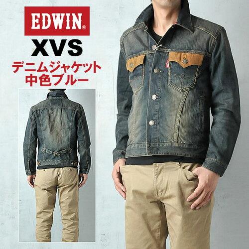 EDWIN エドウィン XVSヴィンテージ&ウエスタン デニムジャケット EDWIN 46285-126/13...