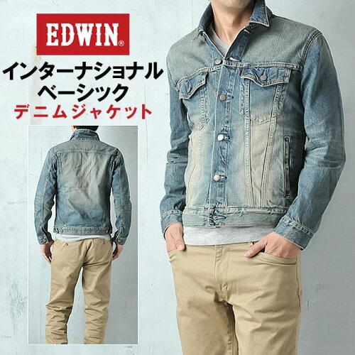 EDWIN エドウィン 403デニムジャケット インターナショナルベーシック 46295-146【コ...