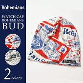 【送料無料(メール便)】Bohemiansボヘミアンズバドワイザー柄ワッチキャップBH-09BOHEMIANSBUD