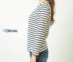 【Orcivalオーチバル】】コットンロードフレンチバスクシャツB211レディースTシャツボートネックオーシバルB211-9