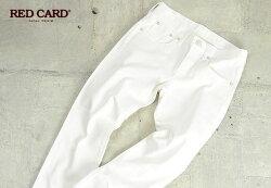 """REDCARDレッドカード""""Anniversary25th""""ボーイフレンドデニムパンツ25周年モデル(ホワイト)REDCARD55506"""