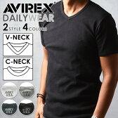 【送料無料】AVIREX アビレックス Vネック/クルーネック半袖Tシャツ 6143501/6143502 avirex Tシャツ メンズ【コンビニ受取対応商品】