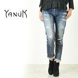 YANUKヤヌークKAY(ケイ)ボーイズスリムデニムパンツ(ダメージ/クラッシュ)57153063