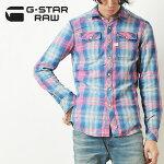 "G-STARRAWジースターロウチェックシャツ""LandhShirts""D-00528-D051"
