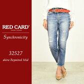 RED CARD レッドカード Synchronicity シンクロニシティ クロップドデニムパンツ(ダメージ)32527-1【コンビニ受取対応商品】
