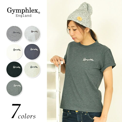 Gymphlex ジムフレックス折り返し袖 ロゴ Tシャツ J-1155CH レディース...