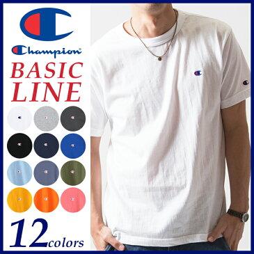 【送料無料(ゆうパケット)】Champion チャンピオン Tシャツ ベーシックライン クルーネックTシャツ BASIC LINE CREW NECK T-SHIRTS C3-H359【コンビニ受取対応商品】