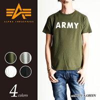 【送料無料(メール便)】ALPHAINDUSTRIESアルファインダストリーロゴプリント半袖Tシャツ(ARMYロゴ)TC-1126D