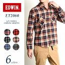 【10%OFF】EDWIN エドウィン ビエラ 長袖チェックシャツ ネルシャツ ワークシャツ メンズ...