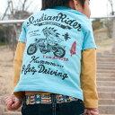 出産祝い 名入れ Tシャツ 名前入りtシャツ 【Indian Rider 】お誕生祝い プレゼント 内祝い 男の子 女の子 ギフト 名前入りTシャツ