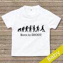 出産祝い 名入れ Tシャツ 名前入り サッカー tシャツ 【Born to SHOOT 】お誕生祝い プレゼント 内祝い 男の子 女の子 ギフト 名前入りTシャツ