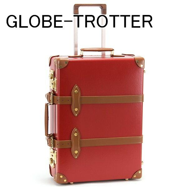 新品 グローブトロッター GLOBE-TROTTER キャリーケース スーツケース 旅行かばん 21 CENTENARY センテナリー トローリーケース レッド GTCNTRT21TC RED/TAN 正規品/ボーナス お中元 セール 2017/ブランド品:インポートマルシェ