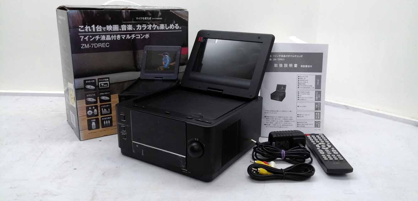 光ディスクレコーダー・プレーヤー, ポータブルブルーレイ・DVDプレーヤー  ZM-7DREC 7 7 DVD CPRM