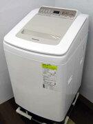 【中古洗濯機】パナソニックNA-FD80H7縦型洗濯乾燥機洗濯8.0kg乾燥4.5kgシャンパン家電ファミリー向けサイズ大型激安価格安いおすすめ泡洗浄自動槽洗浄簡易乾燥機能付