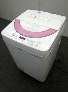 シャープ全自動洗濯機ES-G55PC-P5.5kg2015年製【中古洗濯機】【一人暮らし】【洗濯機】【◆S◆】【中古】【おすすめ】【USED】【あす楽】