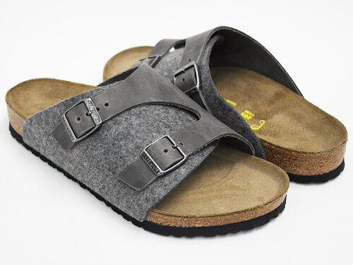 BIRKENSTOCK ZurichGREY / IRON - WOOL / OILED LEATHER