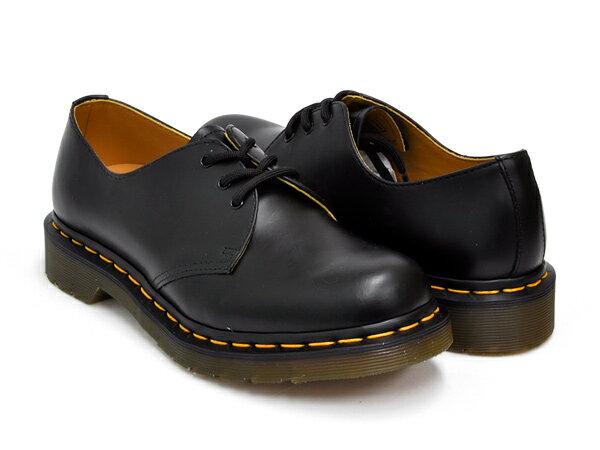 ブーツ, その他 Dr.Martens 3EYE GIBSON SHOE 1461 WOMENS 3 BLACK SMOOTH