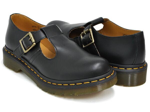 Dr.Martens POLLEY T-BAR MARY JANE WOMENS【ドクターマーチン ポーリー メリージェーン ウィメンズ】【レディース ガールズ ジュニア 女性 サイズ】【ティーバー ストラップ シューズ ブーツ】BLACK SMOOTH