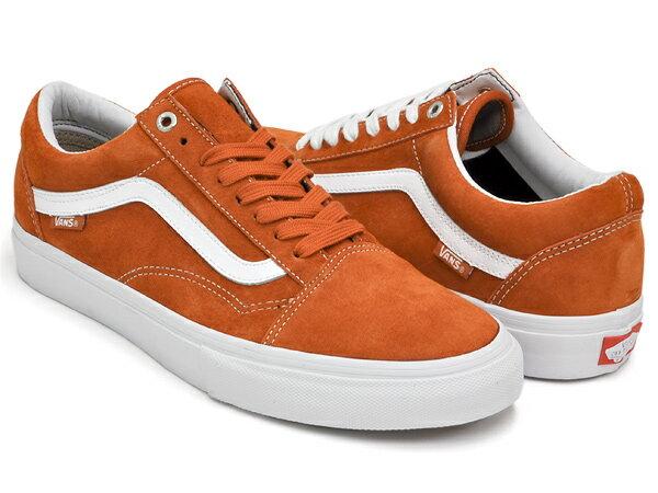 vans old skool pro dark orange