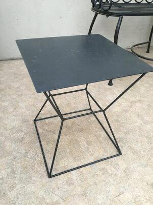 現品飾り台H41cm程アイアンシンプルモダン小物置きサブテーブル送料無料