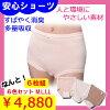 【送料無料+Pt還元キャンペーン中!】女性用吸水ショーツ軽失禁失禁パンツ尿もれパッド安心の日本製いつでも使えていつでもお得に<6枚組>