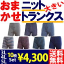 【送料無料】【10枚セット】大きいサイズ ニットトランクス(3L〜5L...