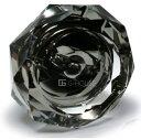 【送料無料】G-HOUSE(ジーハウス) 高級クリスタルガラス製 灰皿 ブラック HM-0811(18cm) 【キズあり】【アウトレット】