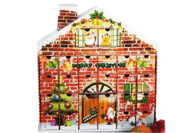 送料無料 クリスマス クリスマスイブ カレンダー カウントダウン サンタクロース トナカイ アドベントカレンダー ギフトパズル ヨーロッパ お菓子 HM-1256 【 GMS01296 】 【winter_sp_d】