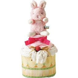 バニーズバイザベイ おむつケーキ バンブーガーゼおくるみ付き ピンク OBBB-080PNK/お中元 御中元 御祝 内祝 ギフト