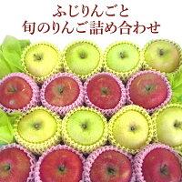 【送料無料】ご贈答、プレゼント用に!ふじりんごと旬のりんご詰め合わせ