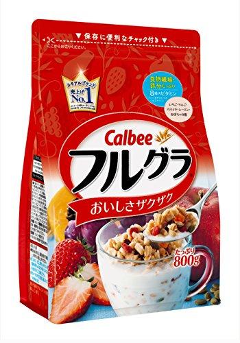 【送料無料】カルビー フルグラ 800g×12袋セット(2ケース) フルーツ グラノーラ 800g 朝食 シリアル