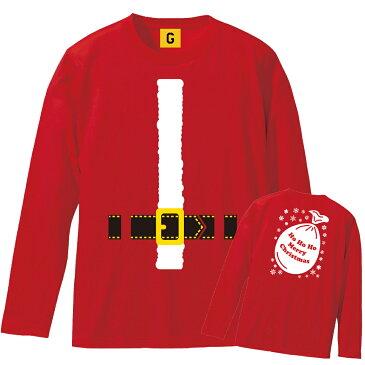 サンタ コスプレ サンタコス クリスマス サンタクロース tシャツ サンタtシャツ サンタになれちゃう 【長袖Tシャツ】