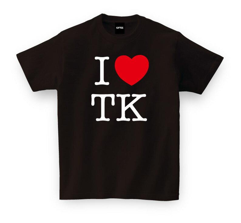 tシャツ メンズ お土産 ご当地Tシャツ I ラブ TK【アイラブ東京 ブラック】 おもしろTシャツ メッセージtシャツ t shirts tsyatu おもしろ プレゼント GIFTEE