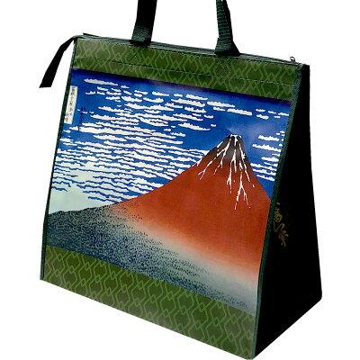 日本のお土産スーベニアバッグ葛飾北斎赤富士