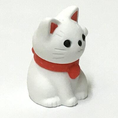 日本のおみやげ縁起物ミニ招き猫・白