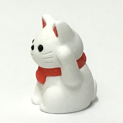 招き猫白ミニサイズ(3.2cm)消しゴム