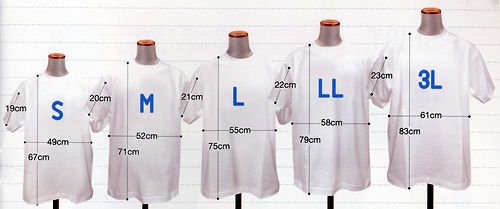 Tシャツサイズ